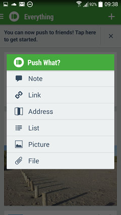 Pushbullet on Samsung Galaxy 4