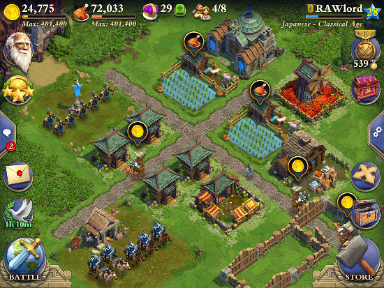 Dominations app for iPad