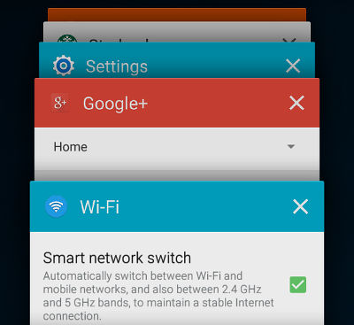 Android app switcher