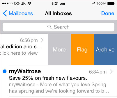 iPhone Mail app