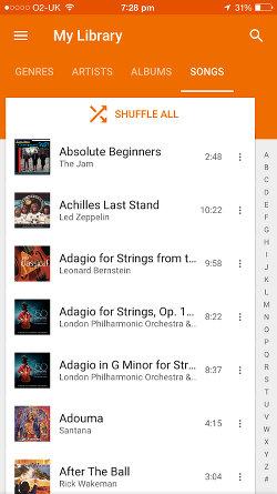 Google Play Music for iOS