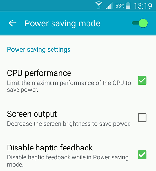 Enable low power mode on your phone cut battery drain