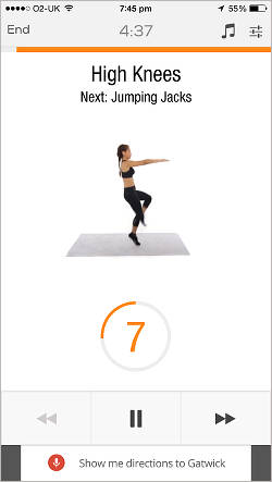 Sworkit Lite exercise and fitness app