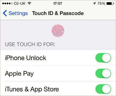 Touch ID on the iPhone