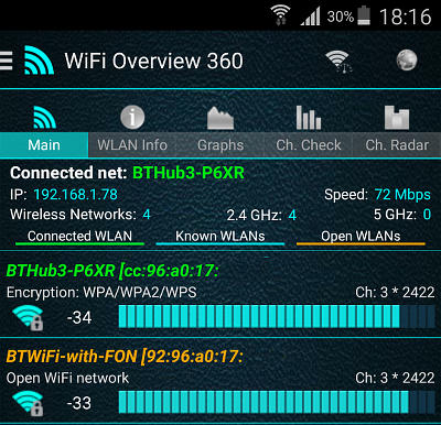 WiFi Overview 360 for Android