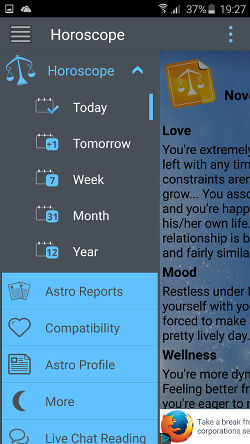 Horoscope app