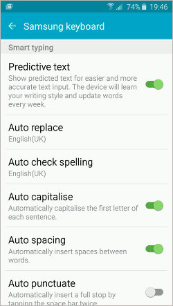 Customise the keyboard on your Android phone or tablet