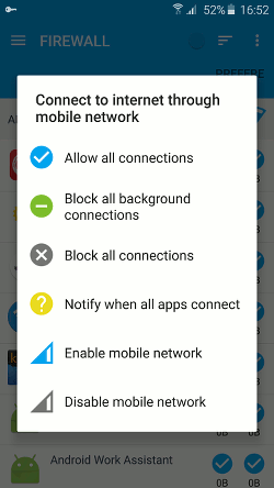 NoRoot Android firewall