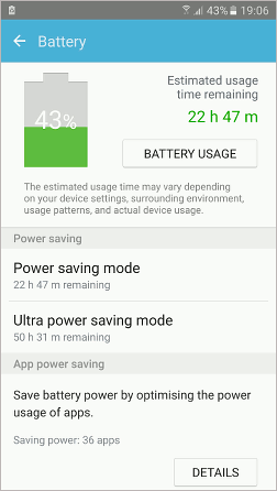 Check the battery level and usage on Android phones and tablets