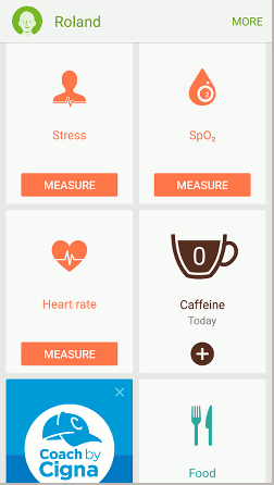 Measure your stress oxygen level and heart rate with the health app on Samsung phones
