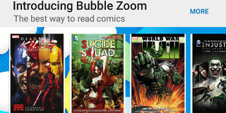 Bubble Zoom comes to your favourite comics in Google Play Books