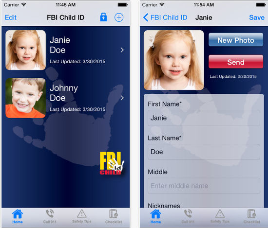 Child ID child safety app for mobile