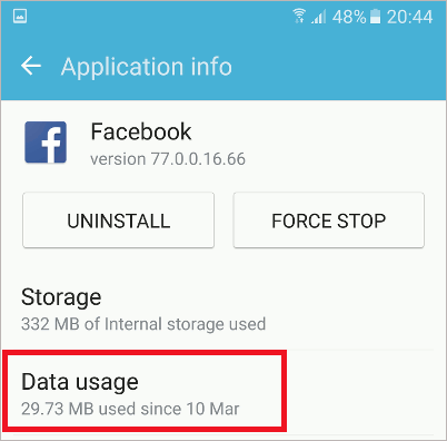 Application info in Android 6