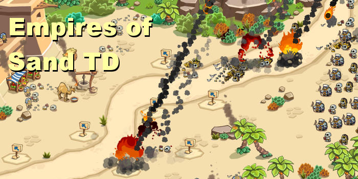 Empires of Sand city building and tower defence game for iOS and Android