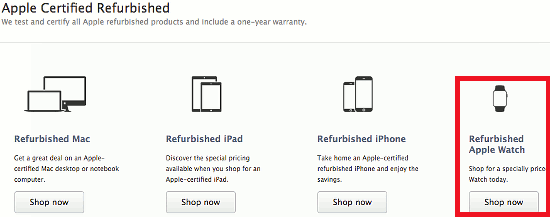 The Apple Refurbished Store is the place to find cheap Apple goods