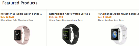 Apple Watch discounts in the Apple Refurbished Store