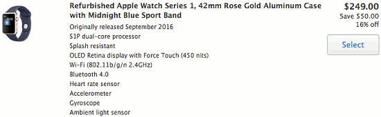 Cheaop Apple Watches in the Apple Refurbished Store