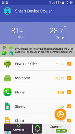 Device Cooler -Heat Minimizer for Android