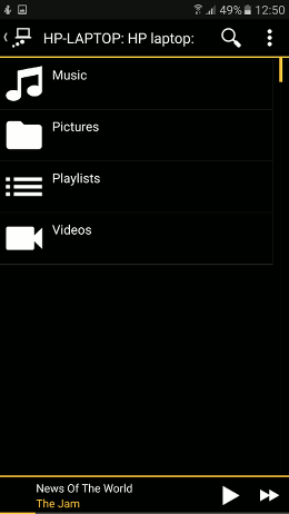 MediaMonkey media player on Android