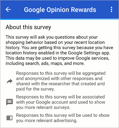 Google Opinion Rewards for Android
