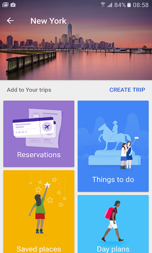 Google Trips for Android