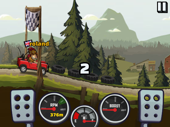Hill Climb Racing 2 for the iPhone and iPad