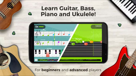 Yousician Guitar, Piano and Bass app for Android