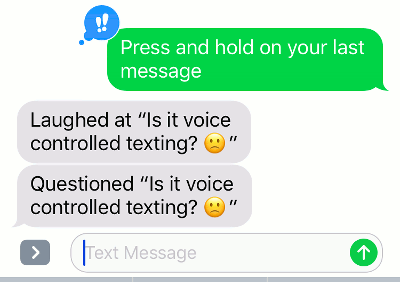 Creating quick responses on the iPhone in the Messages app