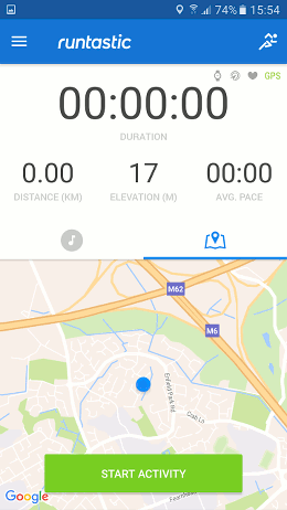 Runtastic Android app for tracking your runs