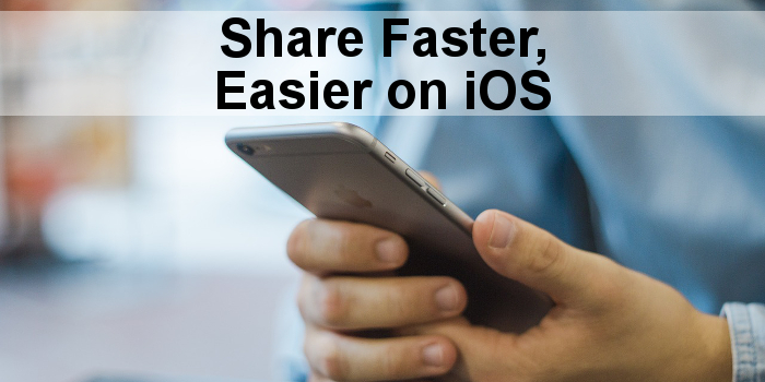 Customise the Safari share buttons in iOS on the iPhone and iPad. Put your favourite share links first