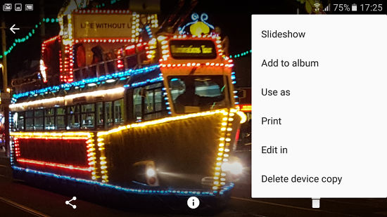 Start a slideshow in the Google Photos app on an Android phone