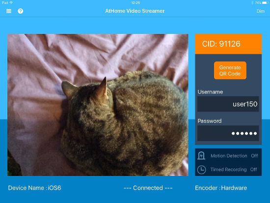 AtHome Video Streamer app video monitoring and surveillance