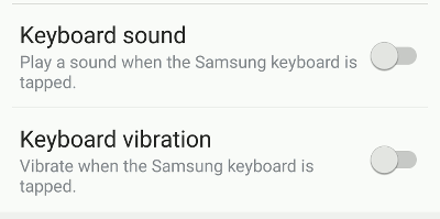 Turn off keyboard sounds and vibrations to save battery power on Android