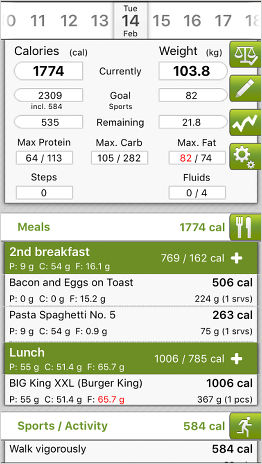 CaloryGuard weight loss app for the iPhone