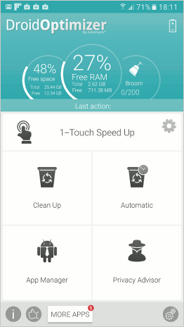 Droid Optimizer app for Android