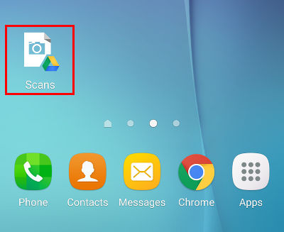 Google Drive Scans icon on Android