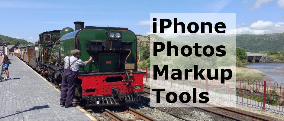 Use the Photos app to write, draw, mark up photos on the iPhone using the markup tools