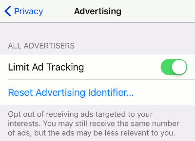 Limit ad tracking on the iPhone for extra privacy and security