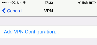 Add a VPN to the iPhone and increase the security