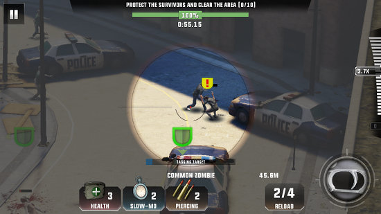 Protect everyone from zombies in Kill Shot Virus for iPhone