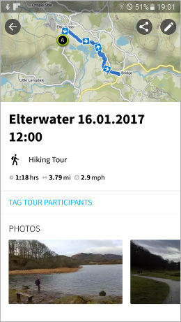 Komoot maps your route and adds photos to make an interesting trip