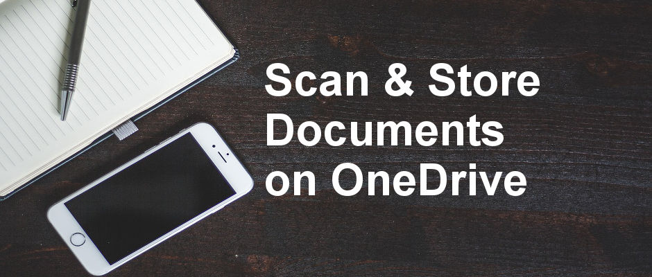 Scan documents with the OneDrive iPhone app and store them online. Scan receipts, business cards and more with the OneDrive app. Step by step guide.