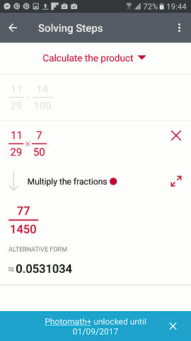 Photomath, the Android app that does your maths