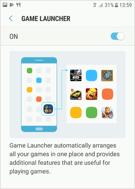 Samsung Game Launcher in Android 7