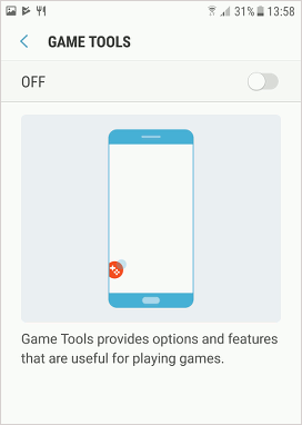 Samsung Game Tools in Android 7