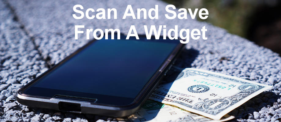 Add a Scan widget to the home screen on your Android phone and scan documents and receipts and save them to Google Drive with three taps