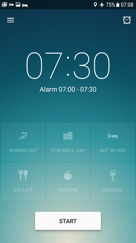 Sleep Better Tracker Runtastic app for Android home screen
