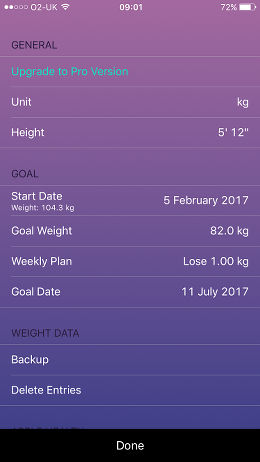 Swift Weight Free lose weight app for the iPhone