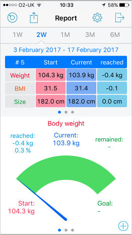 Weight Size Diary Free App For The Iphone Losing