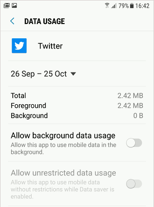 Limit data usage in Android phones